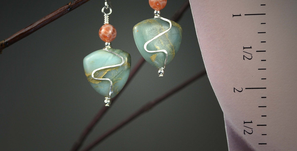 Hook Earrings .. Oceans Tides Ditto