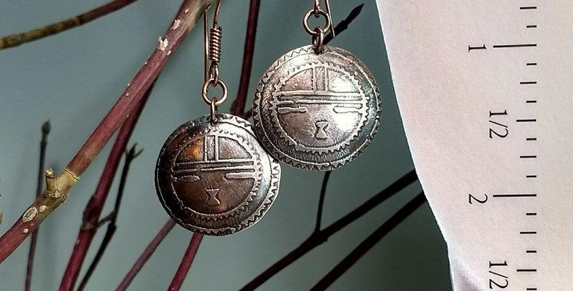 Hook earrings .. Native Sun