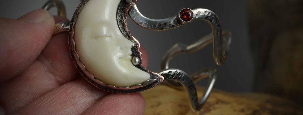Cuff Bracelet .. Sleepy Venus Moon