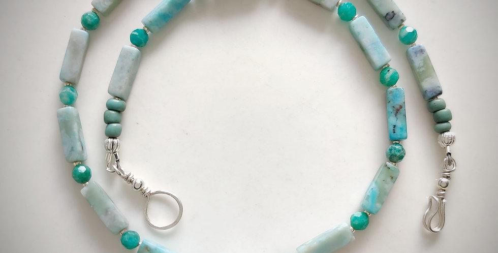 2 Wrap Bracelet .. SeaGreens