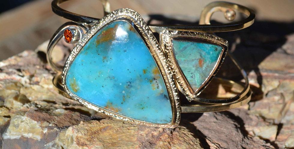 Blue Lagoon .. cuff bracelet