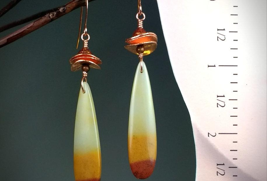 Hook Earrings .. Indian Corn Chips