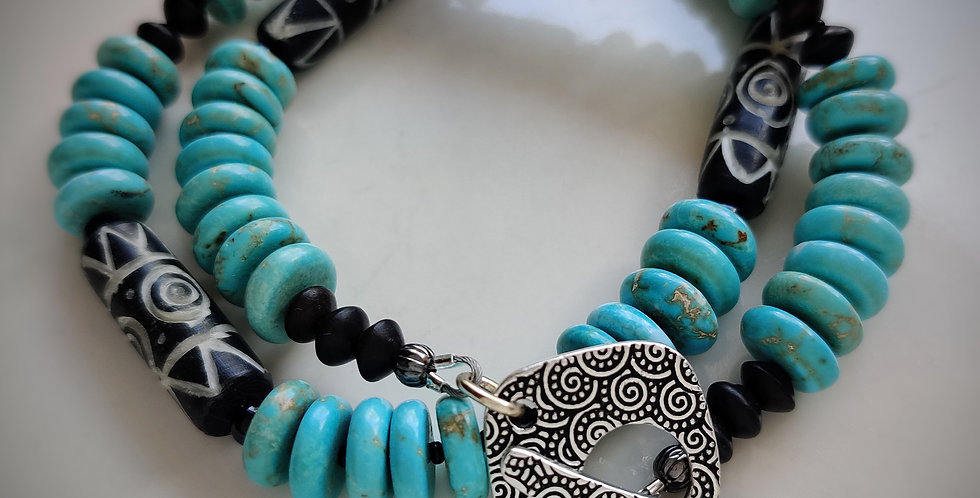 Blue lagoon .. 2 Wrap bracelet