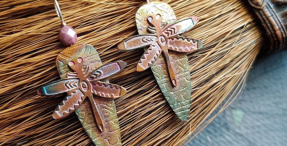 Etched Series .. Primitive Dragonfly