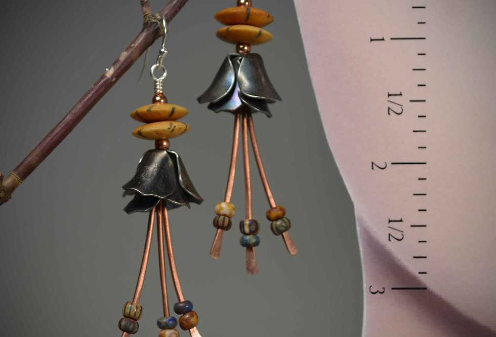 Hook Earrings .. Desert Blossoms