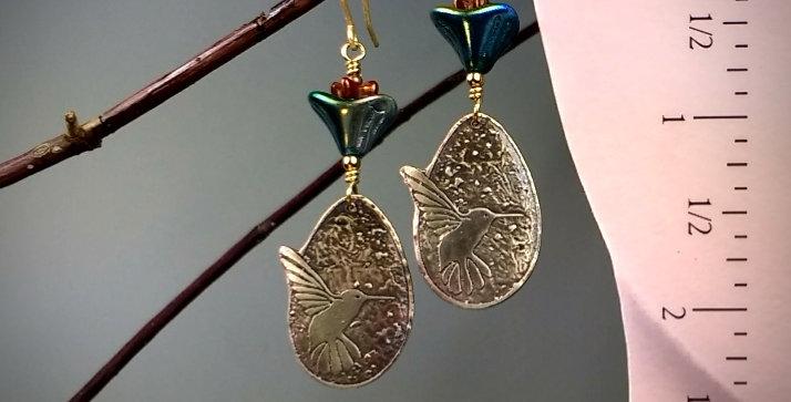 Love Hummingbirds .. earrings
