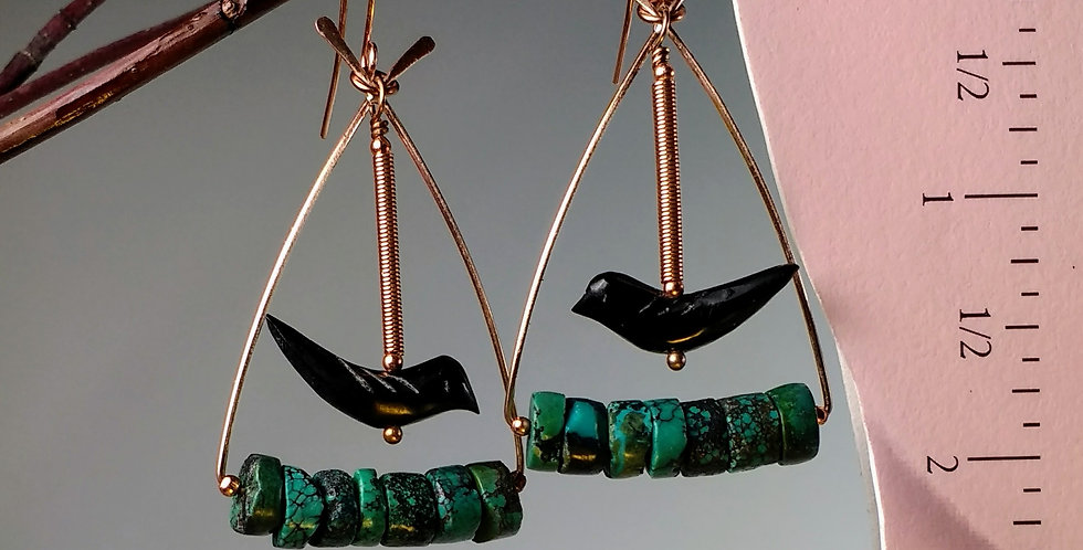 hook earrings .. Sky Riders