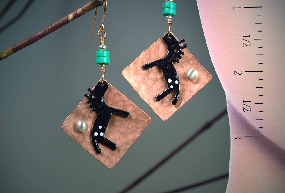 Hook earrings ..  Painted Ponies Summer