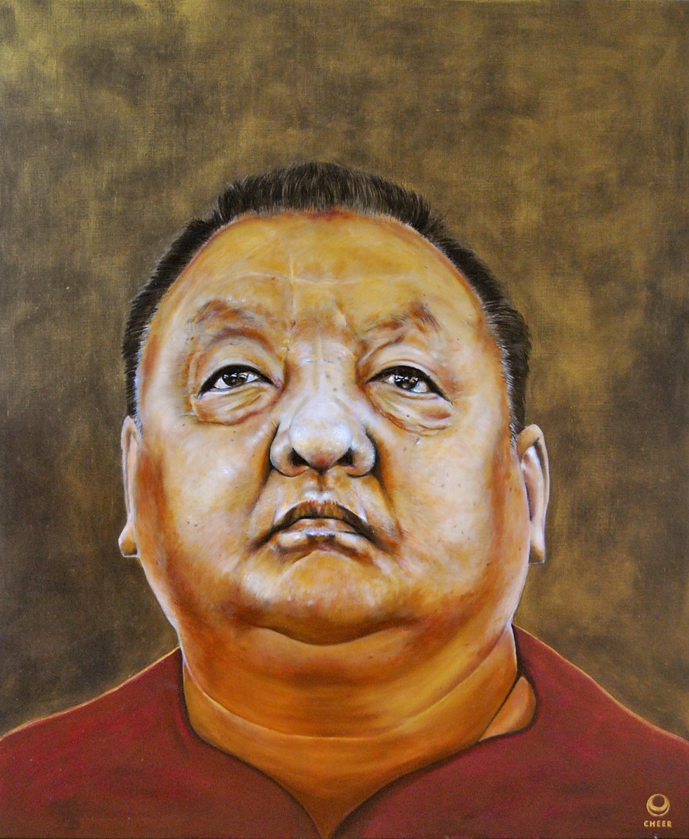 Shamar Rinpoche 2015 Oil on Canvas 100cm x 120cm after a Foto from Tokpa Korlo