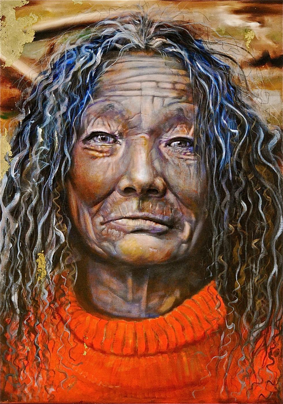 Mingyur Yogini  2014 Oil on Canvas  50 x 70cm