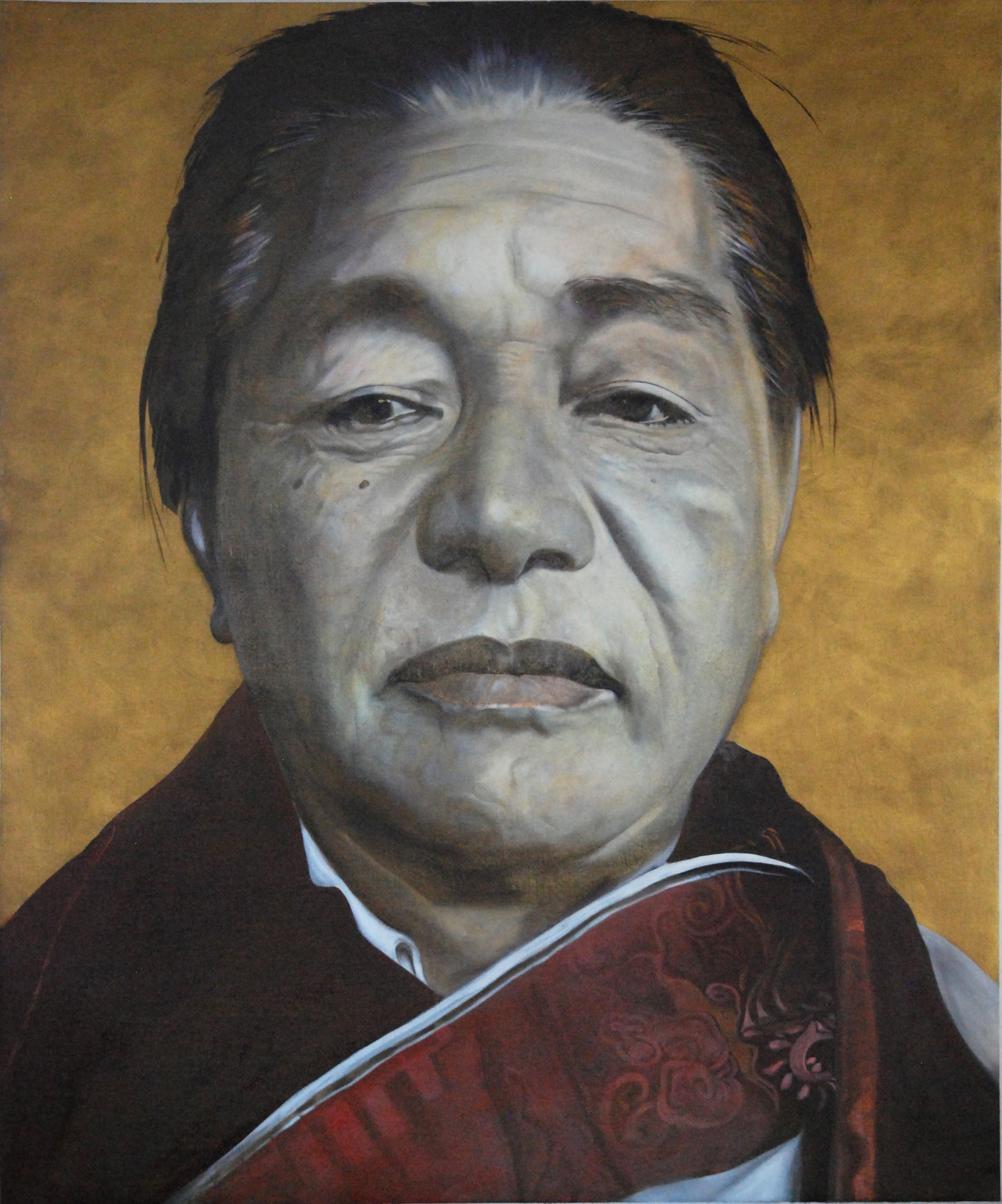 Dudjom Rinpoche 2016 Oel on Canvas