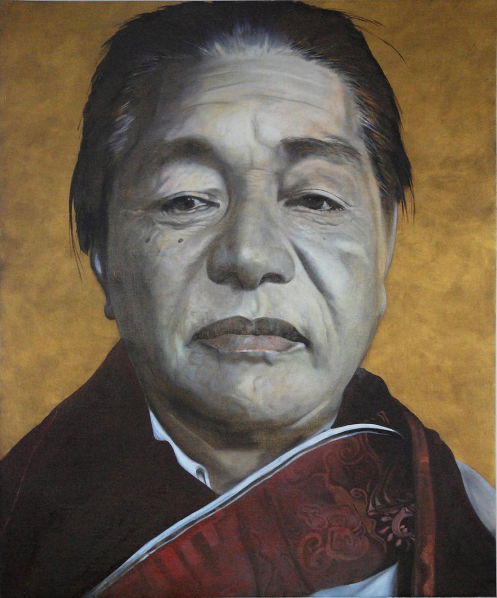 Dudjom Rinpoche 2016 Oel on Canvas