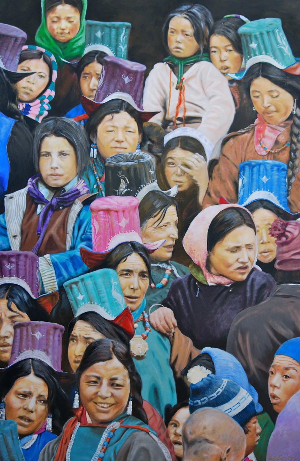 Mönlam 1 Acryl on Canvas 2014 100cm x 150cm