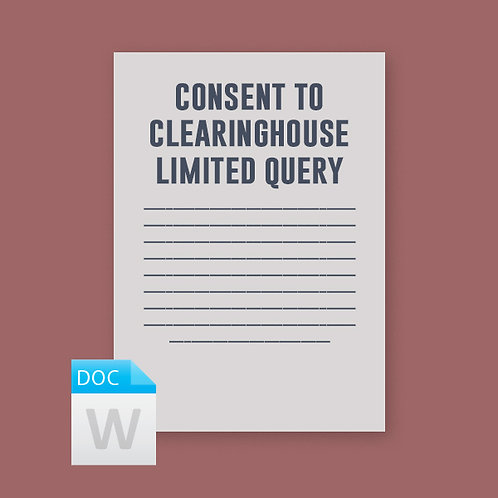 Driver Consent to Limited Clearinghouse Queries