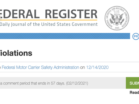 FMCSA proposes to eliminate annual certificate of violations requirement
