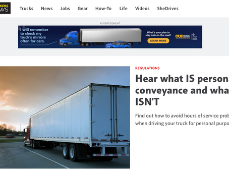 Trucksafe joins Truckers News to discuss personal conveyance