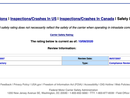 Upgrading your DOT safety rating