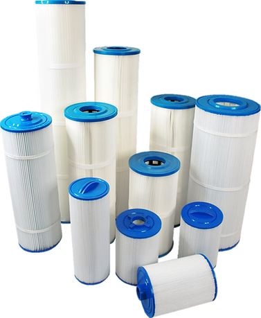 Complete range of repacement cartridges for swimming pools