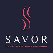 Savor Logo - Vertical on Black - 72dpi.j