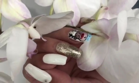 Gel Nails with painted design