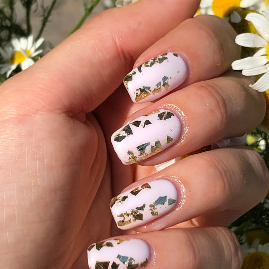 gel overlay with foil