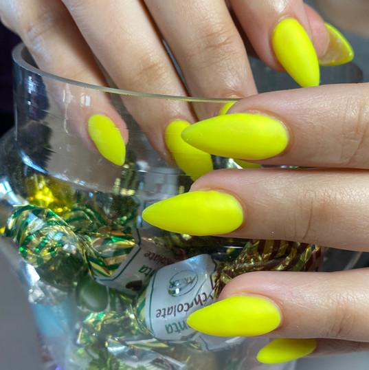 Yellow Gel Nails