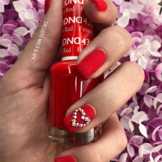 Shellac Manicure with Swarovski heart