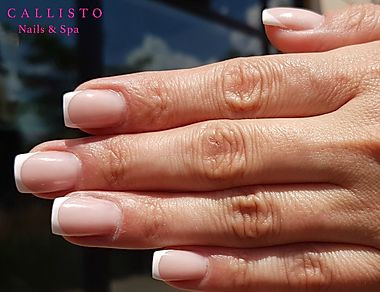 French Manicure on Gel nails