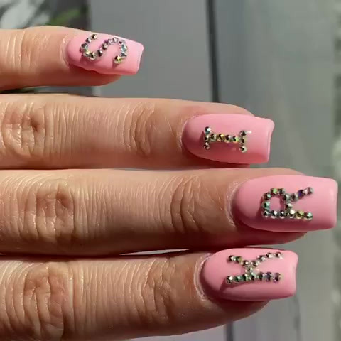 Gel Nails with Swarovski Cristals