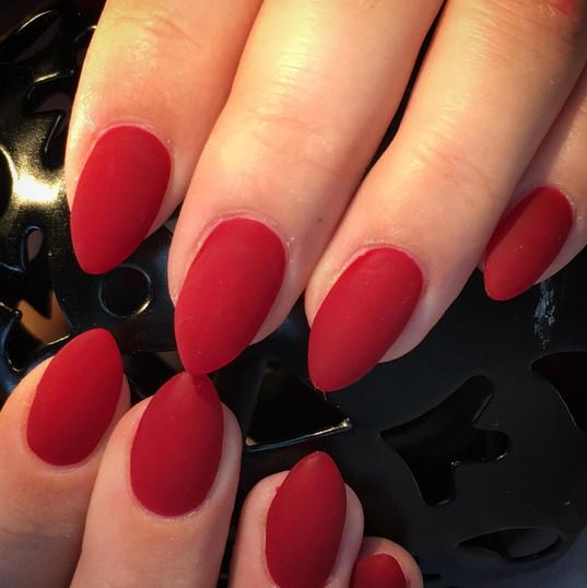 pointy gel nails