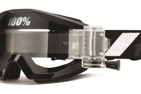 100% Strata Moto Goggle With SVS Roll-Off System - Goliath - Clear Lens