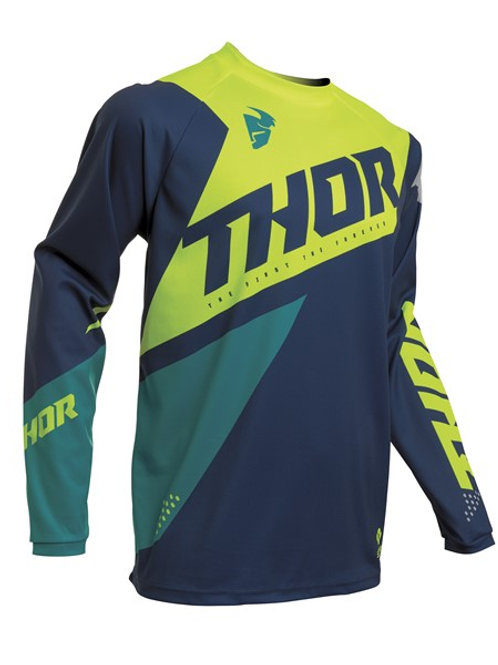 Thor S20 MX Sector Blade Jersey Navy Acid