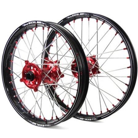 EXCEL HONDA CR/CRF 125/250/450 BLACK/RED A60 WHEEL SET