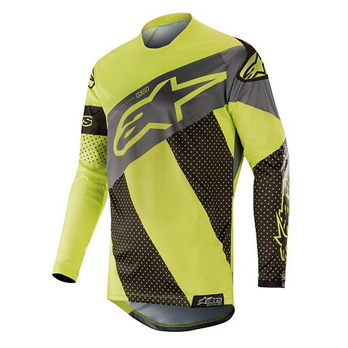 ALPINESTARS Racer Tech Atomic Jersey Black/Yellow Fluoro/Gray