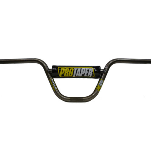 Pro Taper Mini Racer XR/CRF 50 Handlebar and Pad, clear coated BMX style bar