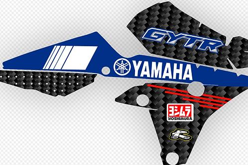 YAMAHA YZ250F/YZ450F 2014-2017 CARBON FIBER DECALS