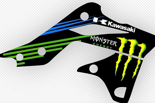 KAWASAKI KX250F 2013 FACTORY MONSTER ENERGY GRAPHICS