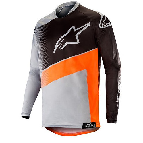 ALPINESTARS Racer Supermatic Jersey Light Gray/Orange Fluoro/Black