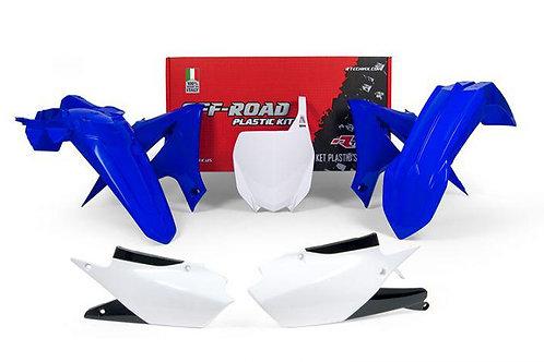 RTECH 2018-2019 YZ450F & 2019 YZ250F Blue White Plastics Kit