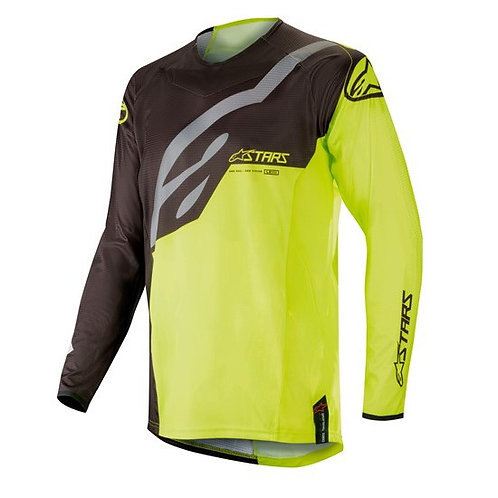 ALPINESTARS TECHSTAR Factory Jersey Black/Yellow Fluro
