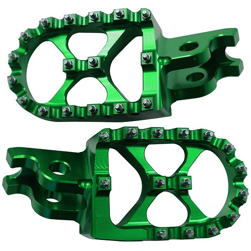 WHITES MX WIDE FOOTPEGS TRS792 GRN KXF250/450 07-16