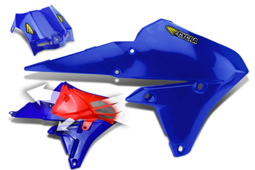 YAMAHA 2014-17 YZ250F/YZ450F CYCRA POWERFLOW SHROUDS WITHOUT DEBRIS SCREEN