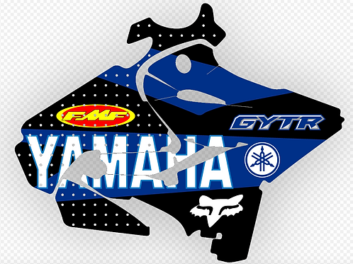 YAMAHA YZ125 2015-2016 or RESTYLED GYTR DECALS