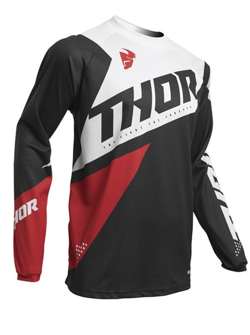 Thor S20 MX Sector Blade Jersey Charcoal Red