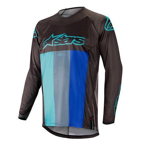 ALPINESTARS TECHSTAR VENOM Jersey Black/Turquoise/Blue
