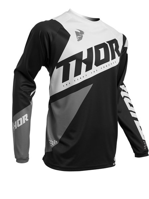 Thor S20 MX Sector Blade Jersey Black White