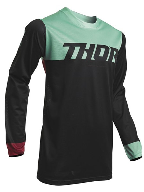 Thor Pulse Air S20 Jersey Black Mint FULLY VENTED