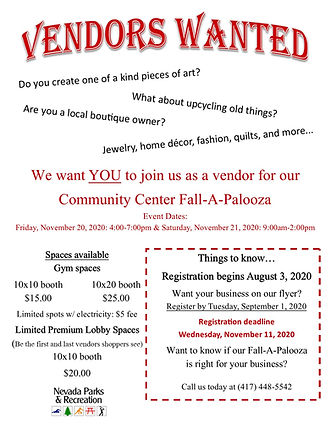 fallapalooza vendors wanted flyer 2020.j