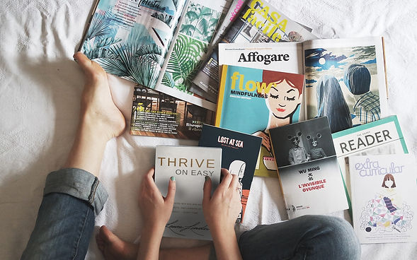 Thrive barefeet books magazines bed book