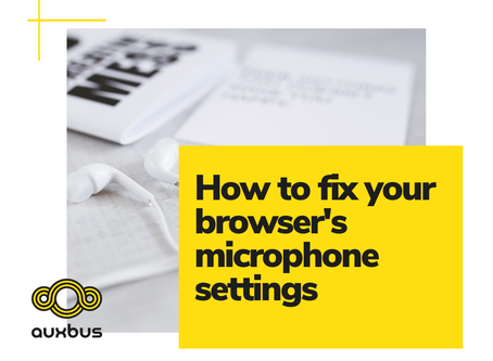 How to fix your browser's microphone settings